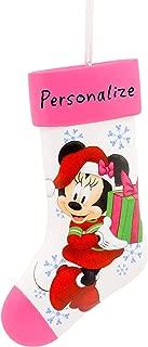 Hallmark Christmas Ornaments, Disney Minnie Mouse Stocking Personalized Ornament