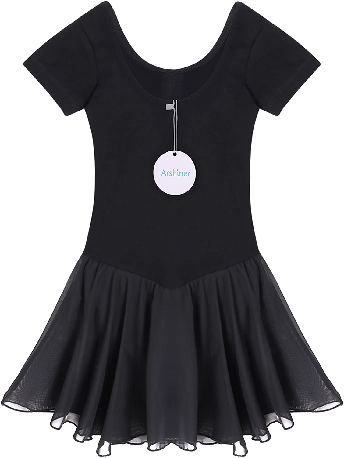 Arshiner Girls Dance Leotard Ruffle Sleeve Dress