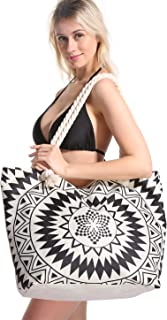 Extra Large Women Beach Tote Bag with Inner Pocket