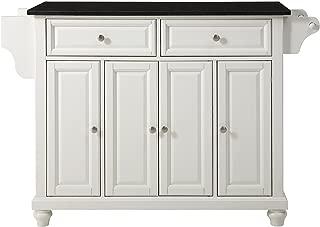 Crosley Furniture Cambridge Kitchen Island with Solid Black Granite Top - White