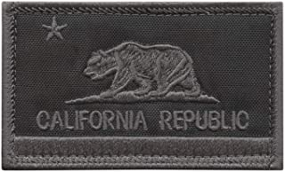LEGEEON California State Flag Blackout Subdued USA Army Tactical Morale Fastener Cap Patch