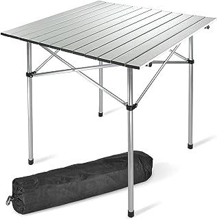 VINGO Klapptisch Campingtisch 120 x 47 m mit 4 F/ächer Schrank Gartentisch Beistelltisch Falttisch Picknicktisch Campingschrank Aluminium faltbar und h/öhenverstellbar 50-70cm