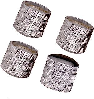 JD Metal pomos de cúpula de guitarra bajo volumen tono Perilla de Control para 6mm de Split eje sólido de o Junta Tórica Pack de 4