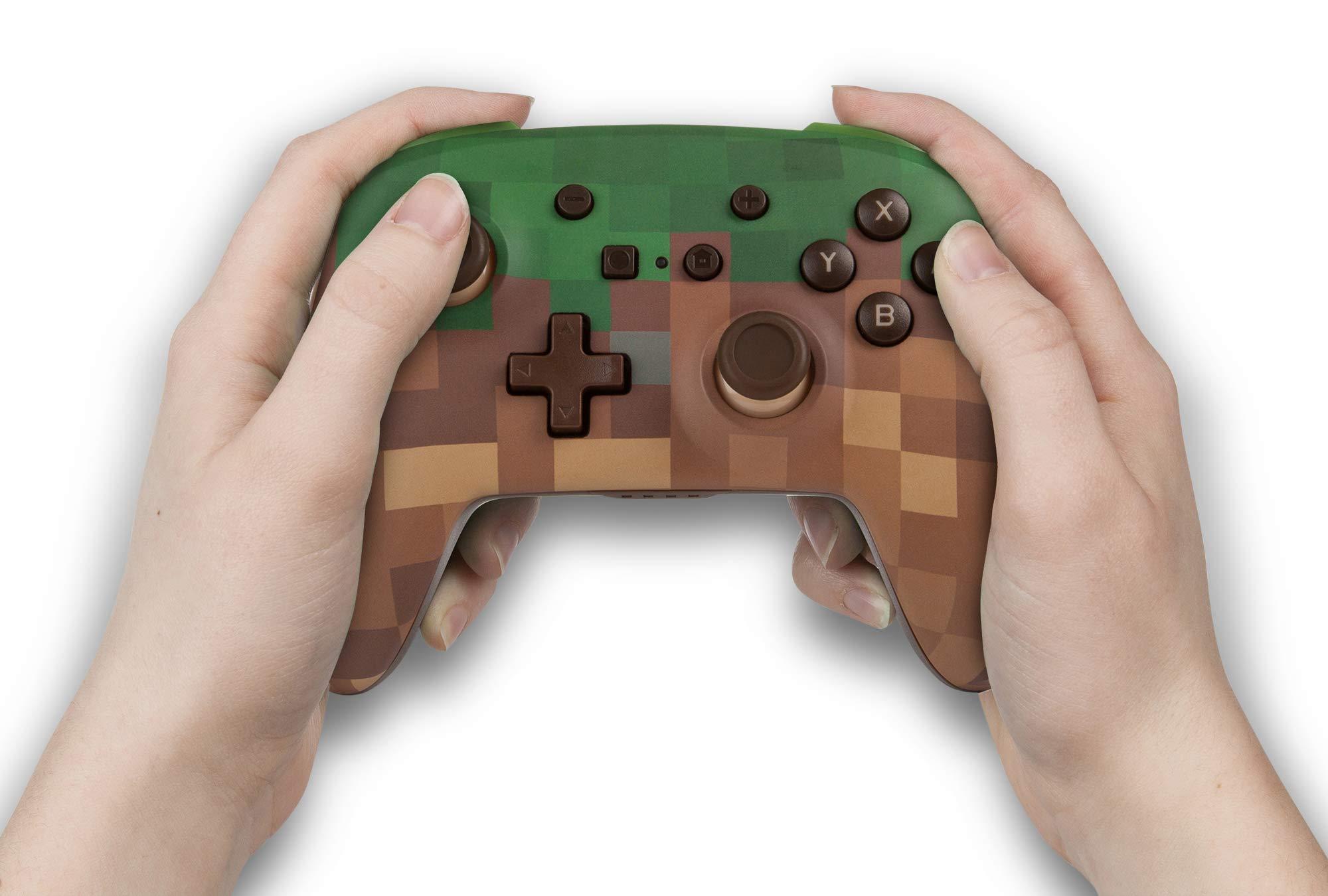 Mando inalámbrico PowerA para Nintendo Switch: Minecraft Grass Block: Amazon.es: Videojuegos