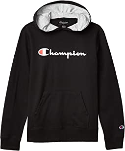 French Terry Hoodie with High Density Script (Big Kids)