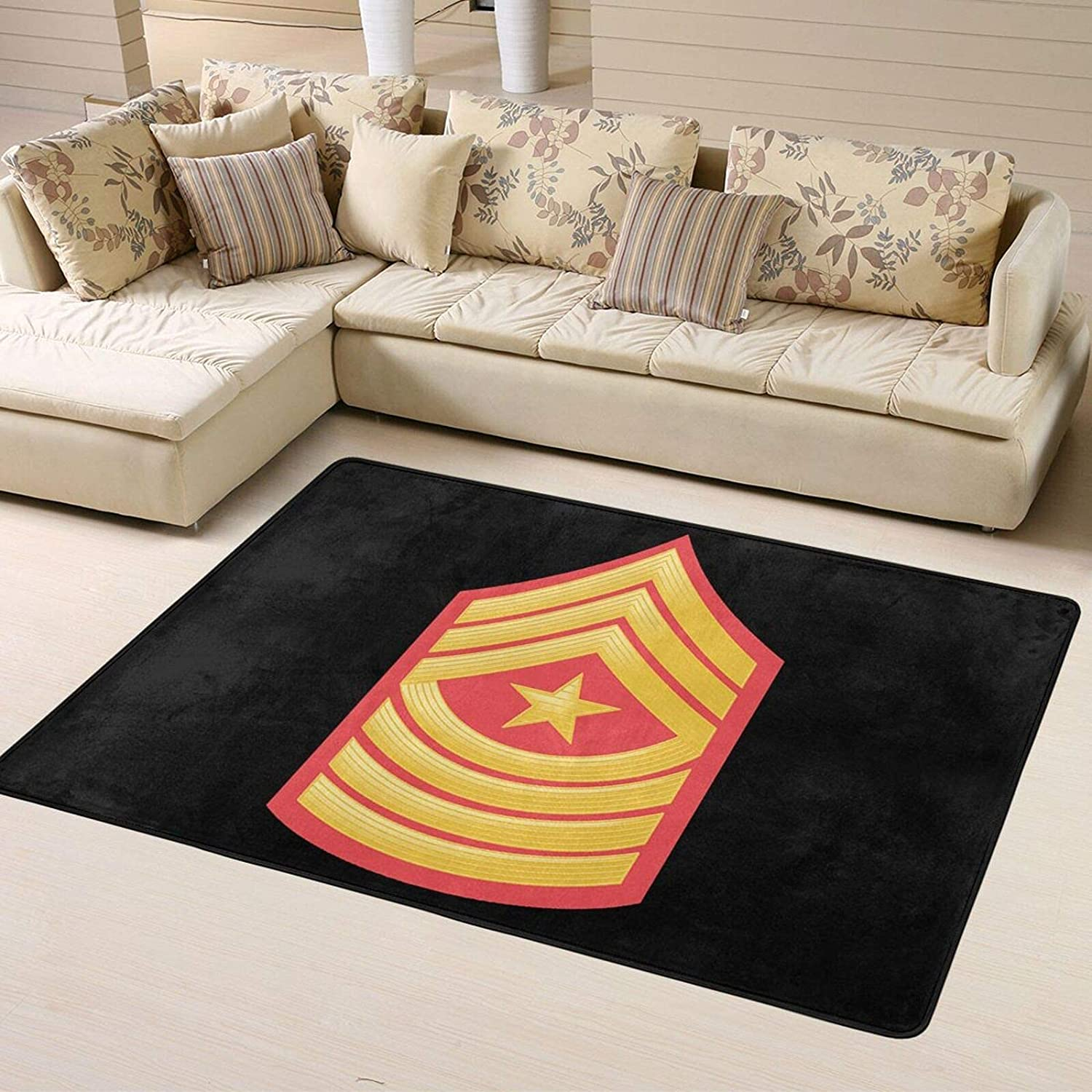 E-9 Sergeant Major Red Ranking TOP12 Gold Personalized Soft Home Chevron Super 100% quality warranty!
