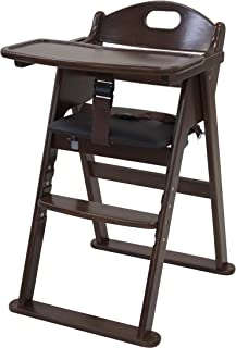カトージ 木製ワイドハイチェア ステップ切り替え ブラウン 22409