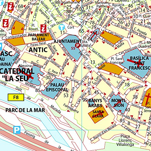 Plano Plegable Palma De Mallorca: City Plans (Planos Michelin)