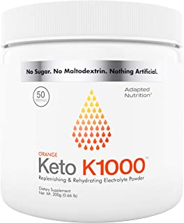 Keto K1000 Electrolyte Powder | Boost Energy & Beat Leg Cramps | No Maltodextrin or Sugar | No Ingredients from China or P...