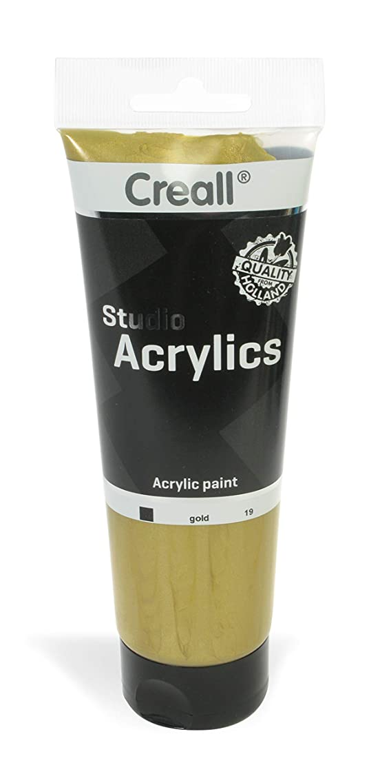 American Educational Products A-33619 Creall Studio Acrylics Tube, 250 mL, 19 Gold