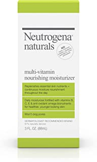Neutrogena Naturals Multi-Vitamin Nourishing Daily Face Moisturizer with Antioxidant Bionutrients & Vitamins B, C & E, Non...