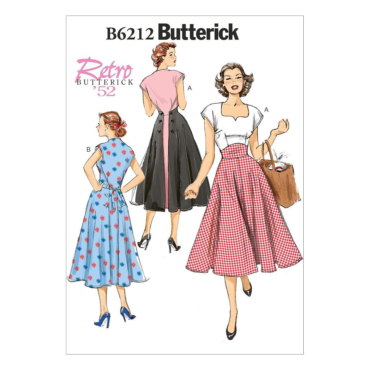 BUTTERICK PATTERNS B6212E50 Misses Dress, E5 (14-16-18-20-22)