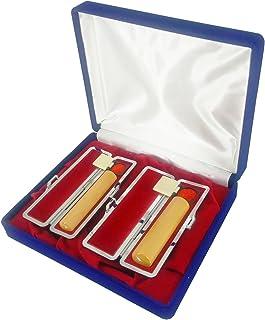 章栄堂 印鑑御仕立券 柘 2本セット(12、15mm各1本)ハガキオーダー式 T02