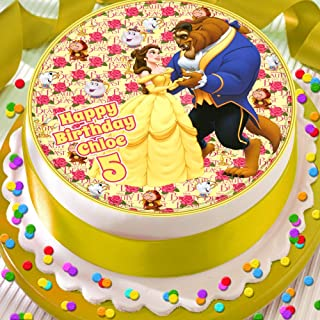 Details about  /Beauty and the Beast 7 Inch Edible Image Cake /& Cupcake Toppers Birthday