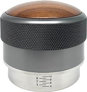 LYCKLY Tamper à expresso de précision avec graduation pour porte-filtre d'un diamètre de 58 mm - Presse-café réglable en a...
