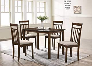 US Pride Furniture Dinning table set, Walnut/Wenge