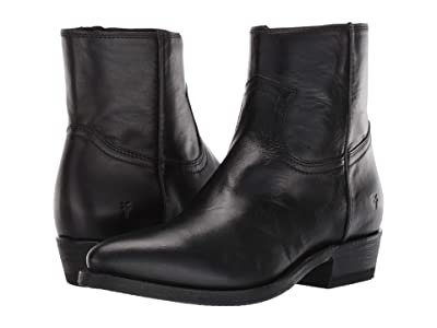 Frye Billy Inside Zip Bootie (Black Soft Full Grain Leather) Women
