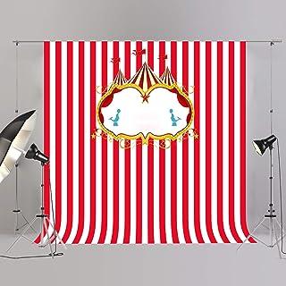 joypark Circus Zelt Foto Booth Hintergrund für Party Dekorationen Supplies Fotografie Rückseite Drop für Baby Dusche Oder Geburtstag Bilder Vinyl Requisiten, W323, 8x8ft(250x250cm)