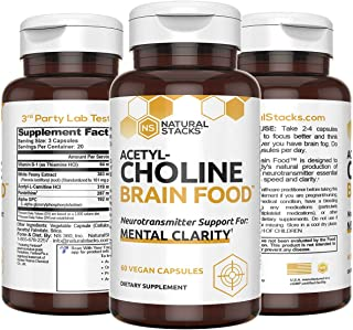 Sponsored Ad - Natural Stacks Acetylcholine Supplement 60 ct - Faster Thinking & Memory Support - Powerful Fast Acting For...