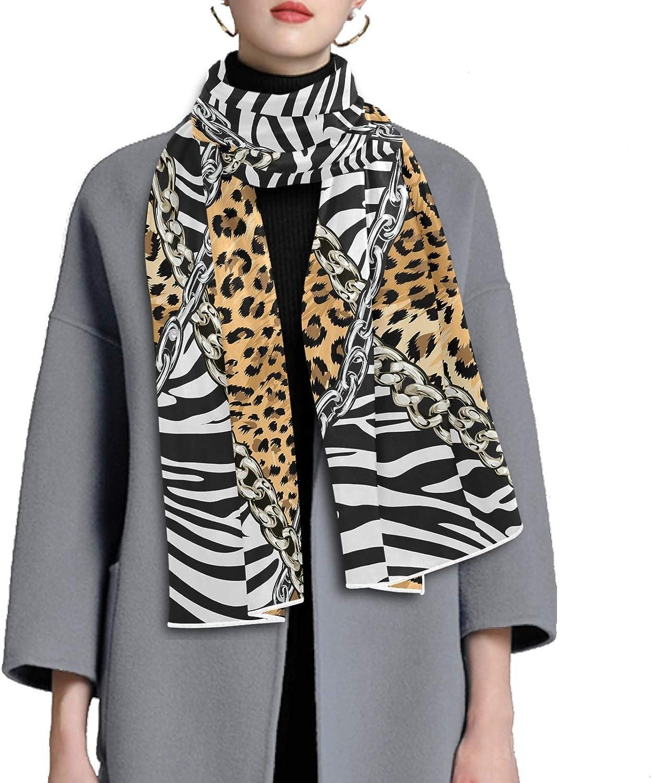 Scarf for Women and Men Zebra Leopard Skin Stripe Shawl Wraps Blanket Scarf Thick Soft Winter Large Scarves Lightweight