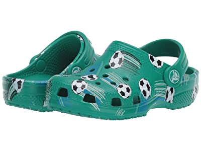 Crocs Kids Classic Sport Ball Clog (Toddler/Little Kid) (Deep Green) Boy