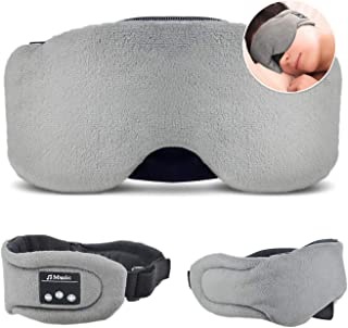 HEYMIX Bluetooth Sleeping Eye Mask Headphones,5.0 Wireless Bluetooth Headset Music Travel Sleep Headset Built-in Microphon...
