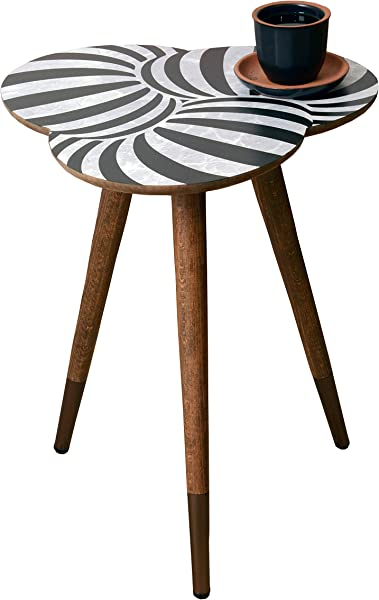 CasaCulina From The Past To Future Collections Print Modern Side End Table Coffee And Cocktail Table Nesting Table With Multiple Color Option Geometric