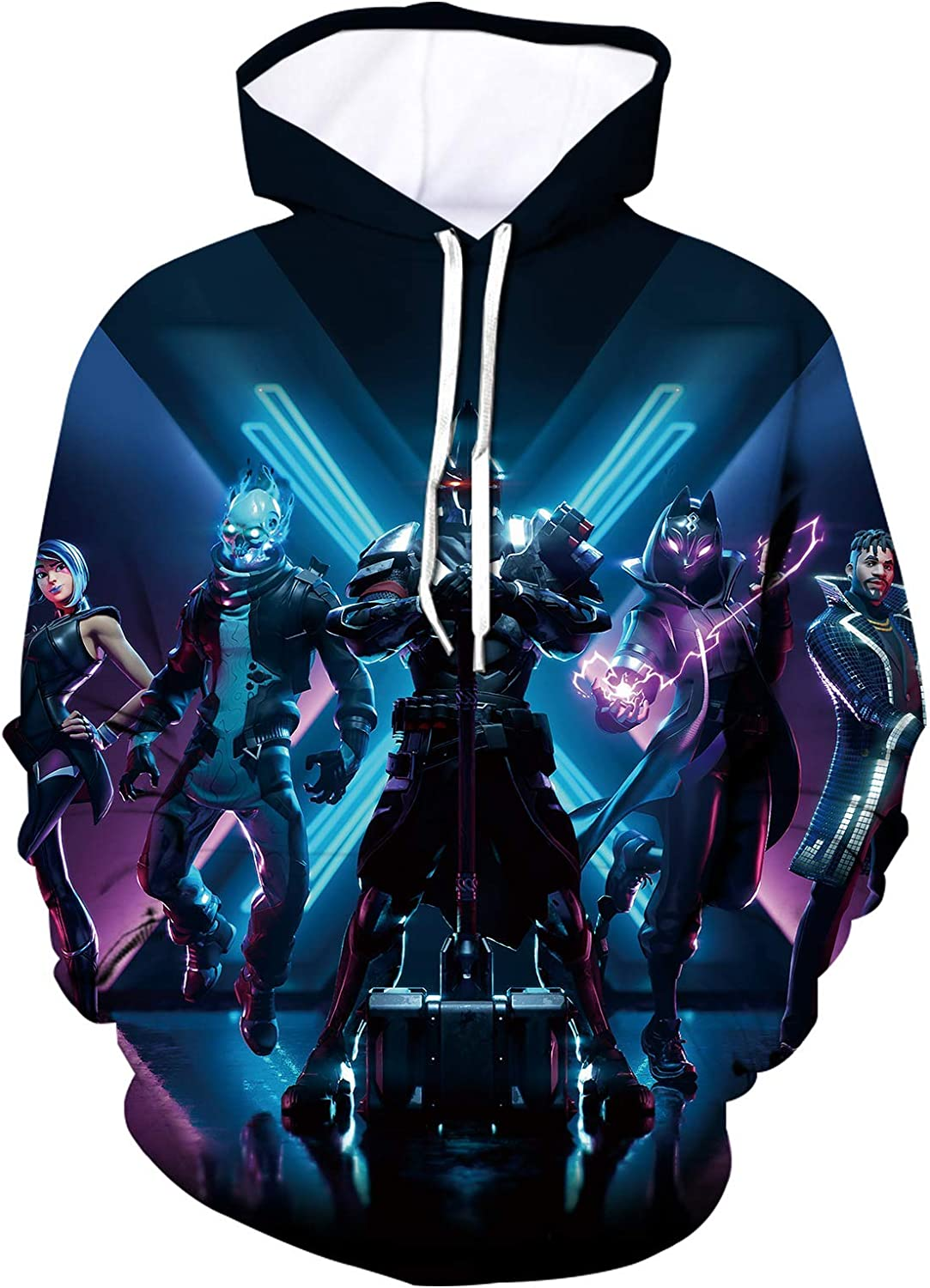 Epic Games Fortnite Hoodie and Beamed Sweatpants Suit Hooded Sweatshirts for Boys Girls Youth