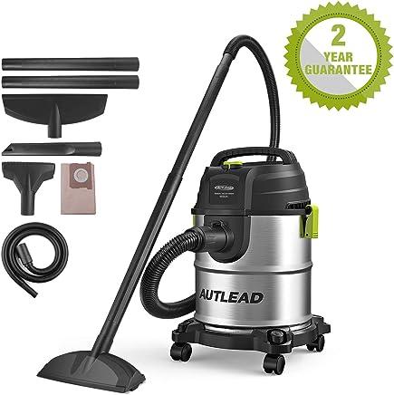 AUTLEAD Aspirador Seco Húmedo, 1000W 20 L Aspirador de usos múltiples de Acero Inoxidable, Aspirador doméstico con función de soplado, Silenciador