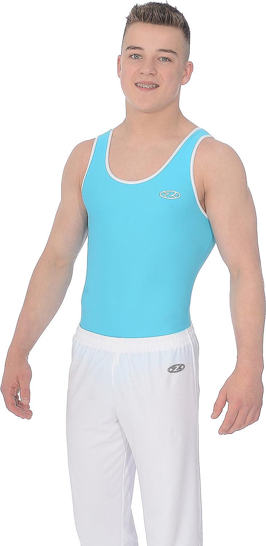 Matt Nylon//Lycra The Zone Z887ACE Round neck boys//mens sleeveless gymnastics leotard