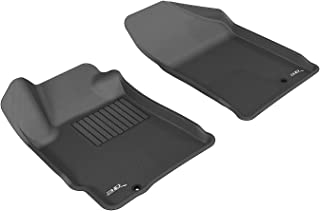 3D MAXpider Front Row Custom Fit All-Weather Floor Mat for Select Nissan Altima Models - Kagu Rubber (Black)