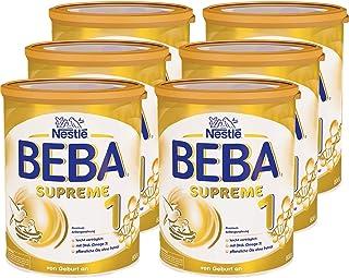 Nestlé BEBA雀巢貝巴 SUPREME 1段初始嬰兒奶粉:適合新生兒 即沖即飲 富含植物油 , 6罐裝 (6 x 800g)(不含助溶劑,沖泡需用力搖,沖后有結晶非品質問題,請放心食用)