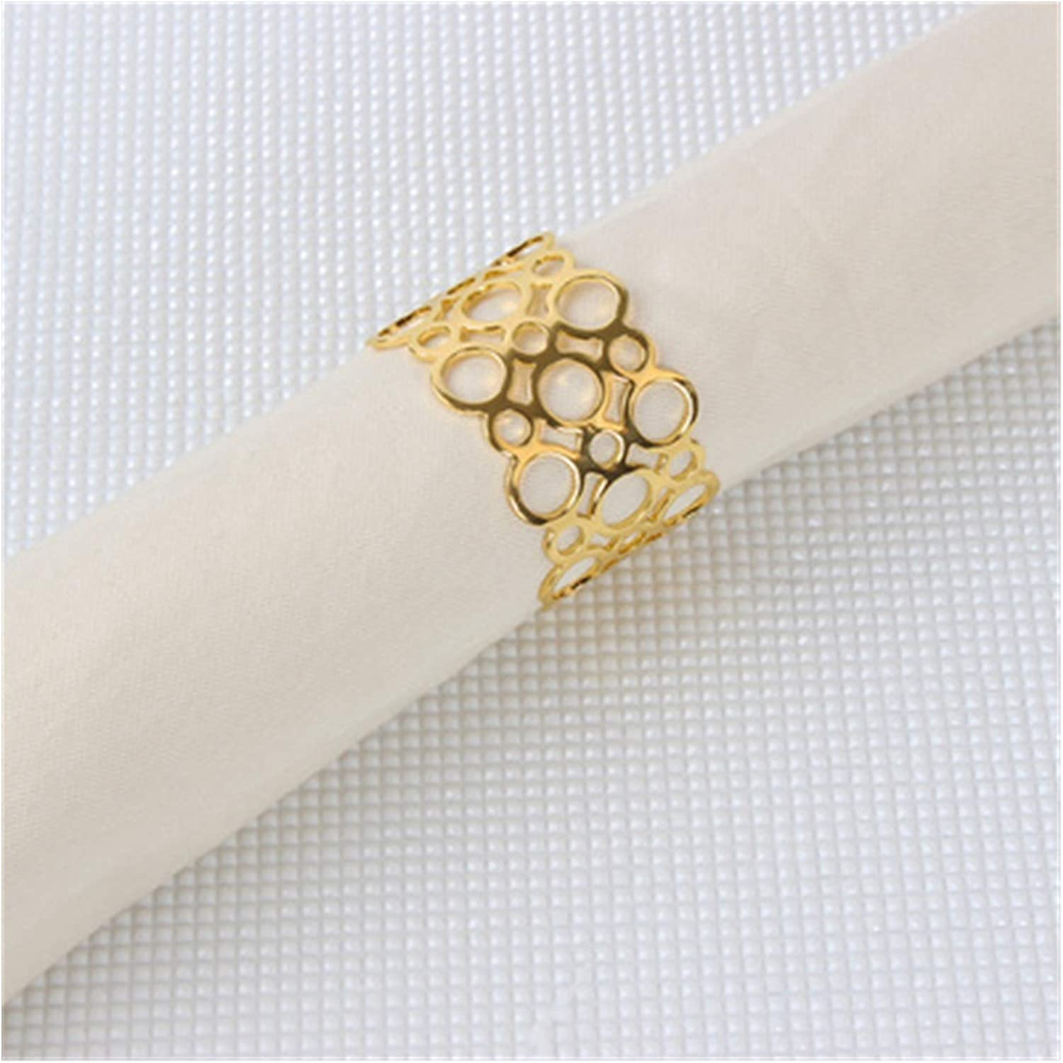 WSZMD Napkin Ring 12Pcs Lot Sales results No. 1 Hollow Round Max 50% OFF Beaut Hotel