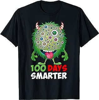 100 Days of School shirt   100 Days Smarter Funny Monster