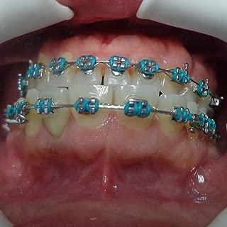 Dentalmal Dental Orthodontic Ligature ties Elastics in multiple colors and Cartoon Types 1040 pieces for 1 pack and Orthodontic Ligature Gun