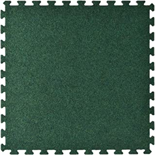 Greatmats Trade Show Event Floor Carpet 10 ft x 10 ft Kit Interlocking 2ft x 2ft Puzzle Carpet Tiles, 25 Pack (Green)