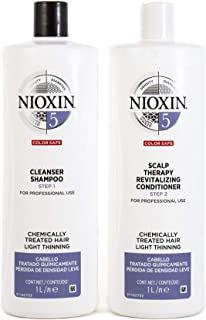 Nioxin System 5 Duo Pack, Cleanser 1L and Scalp Therapy Revitalising Conditioner 1L