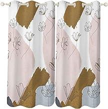 """Bloem Geïsoleerde gordijnen zijde satijn polyester slaapkamer keuken woonkamer decoratie woondecoratie 2 panelen 52 """"× 72""""..."""