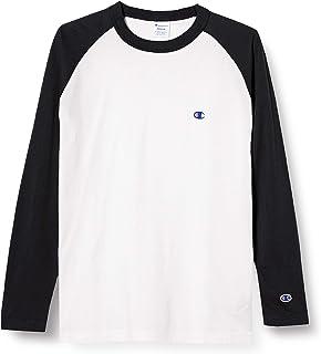 [チャンピオン] ロングTシャツ 長袖Tシャツ 綿100% 定番 ラグランスリーブ ワンポイントロゴ刺繍 ロングスリーブラグランTシャツ C3-P402 メンズ