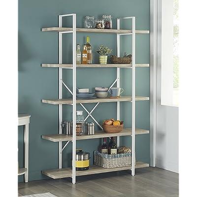 Homissue 5-Shelf Modern Style Bookshelf