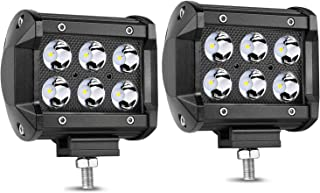 LED Pods, Wayup 2Pcs 4 Inch 36W Spot LED Pods Light Dual Row Off Road LED Cube CREE LED Fog Light Driving Light Work Light for Jeep, ATV, UTV, SUV, Camper