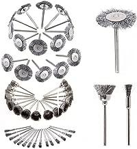 Yakamoz 45pcs Steel Wire Wheel Brushes Polishing Set Buffing Accessories Kit for Dremel Rotary Tool