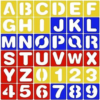 Conjunto de 4 Letras plantillas 5mm a 30mm herramientas de artistas plantillas.