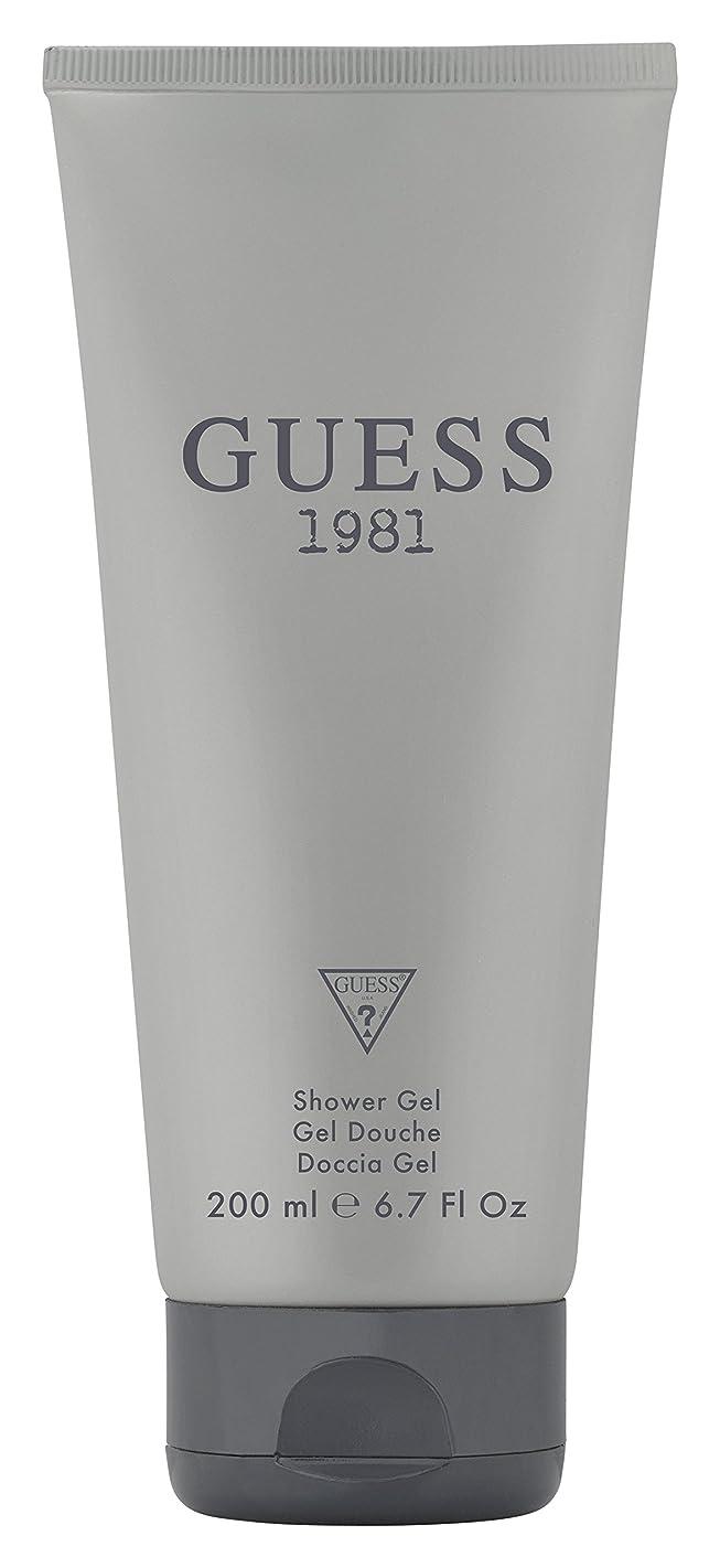 Guess Fragrance 1981 Hair & Body Wash for Men, 6.7 Fluid Ounce