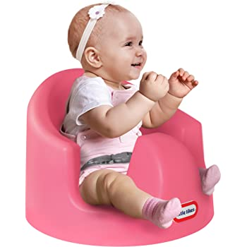Little Tikes My First Seat Infant Toddler Foam Cushion Floor Support Seat Baby Chair, Pink