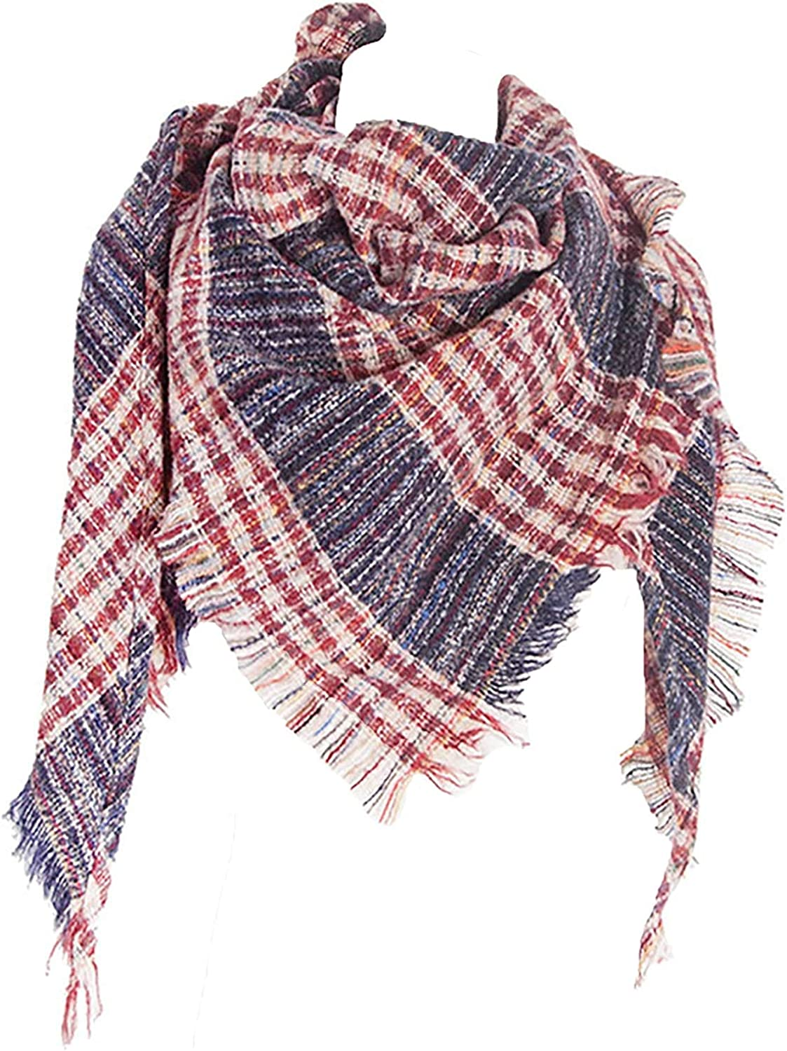 Neck Warmer Cashmere Scarf Ladies Fashion Scarf MKLP Tassel Scarf Winter Ladies Scarf Large Warm Shawl Plaid Scarf Large Shawl Keep Warm and Prevent Cold For Women