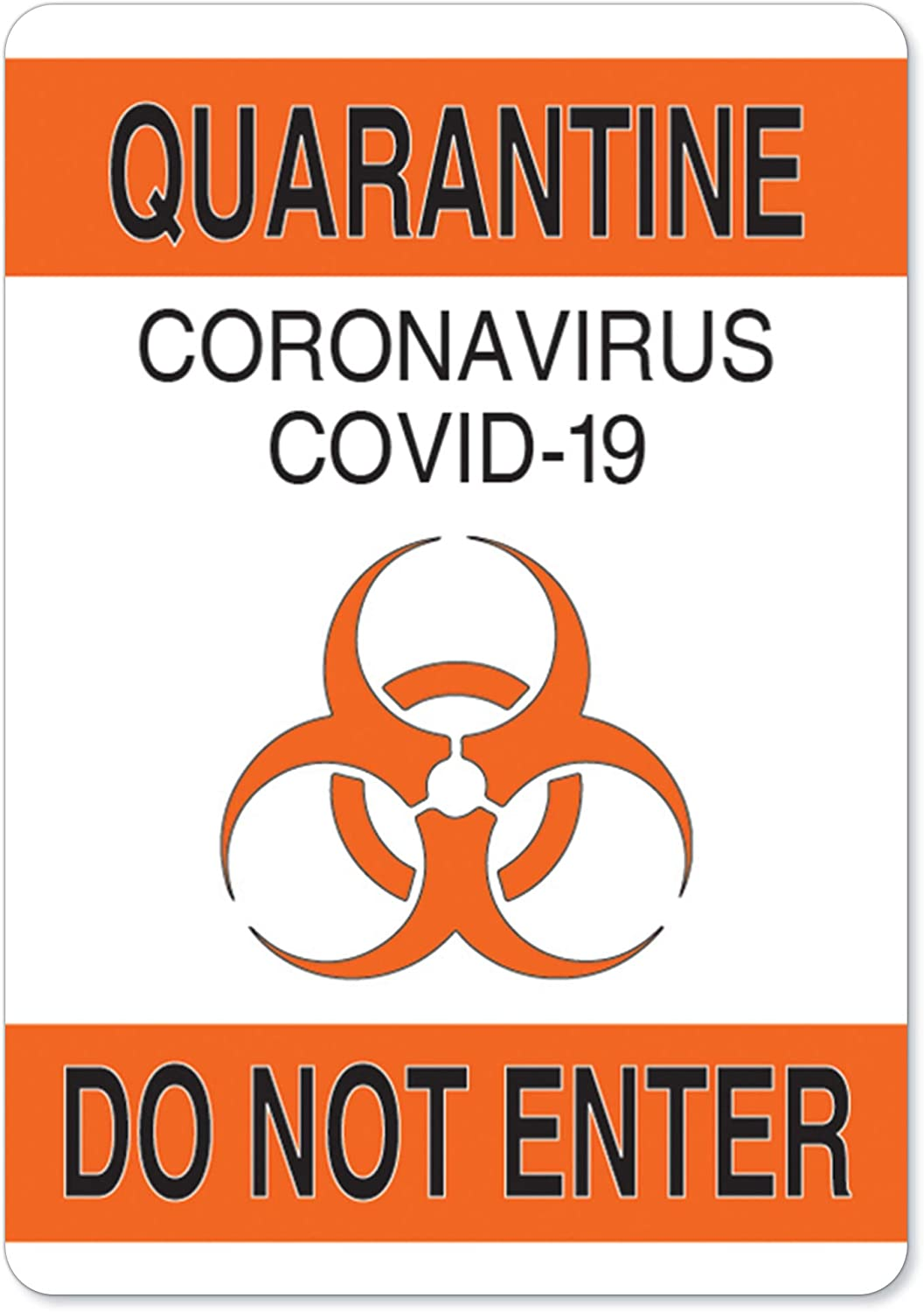 Protect Your Business /Made in The USA Office /& Interior Surroundings 18 x 12 Class Room SignMission OSHA Notice Sign Quarantine Do Not Enter 1 Peel and Stick Wall Graphic