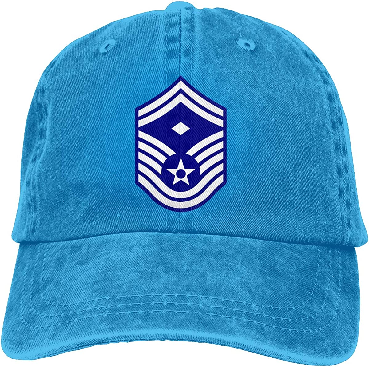 SLISL EIEI USAF First Sergeant E8b 1STSGT2 Adjustable Baseball Caps Denim Hats Cowboy Sport Outdoor