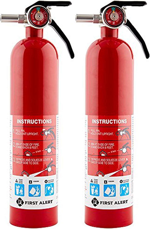 格安激安 First Alert FE1A10GR195 高価値 Standard Home Red Fire Extinguisher Pac