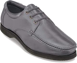Mens Shoes Wide Fit Leather Lace Up Color